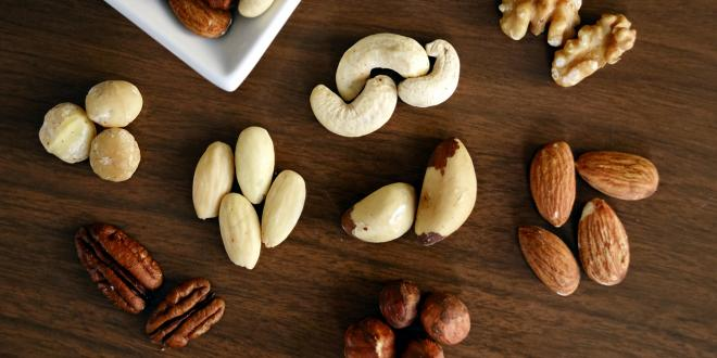 Walnuts, macadamias, and almonds